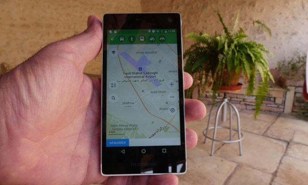Test de l'application voyageuse MAPS.ME
