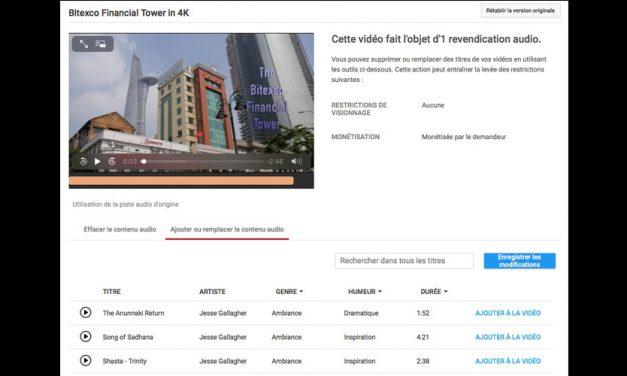 Utiliser librement la Bibliothèque audio de Youtube