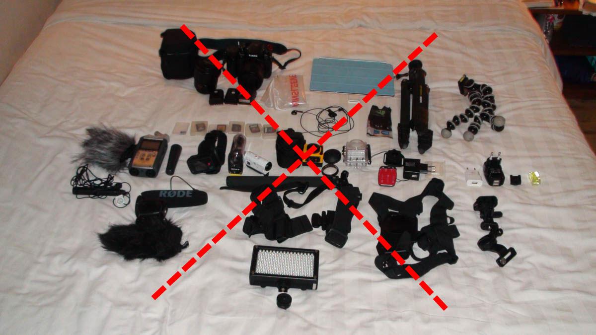 Minimalisme en voyage : quel matériel photo-vidéo ?
